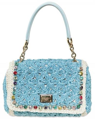 Dolce   Gabbana Miss Charles Crochet Tote   Designer Handbags bdd194700f