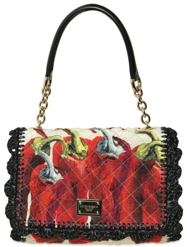 Dolce Gabbana Quilted Cotton Raffia bag Dolce & Gabbana Quilted Cotton Raffia Tote