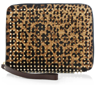 Christian Louboutin Chris Leopard Pony Skin ipad case Christian Louboutin Chris Leopard Pony Skin ipad case